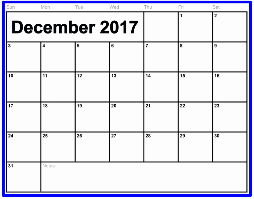 2017 Calendar Template with Notes Best Of December 2017 Calendar Notes Archives Printable Letter