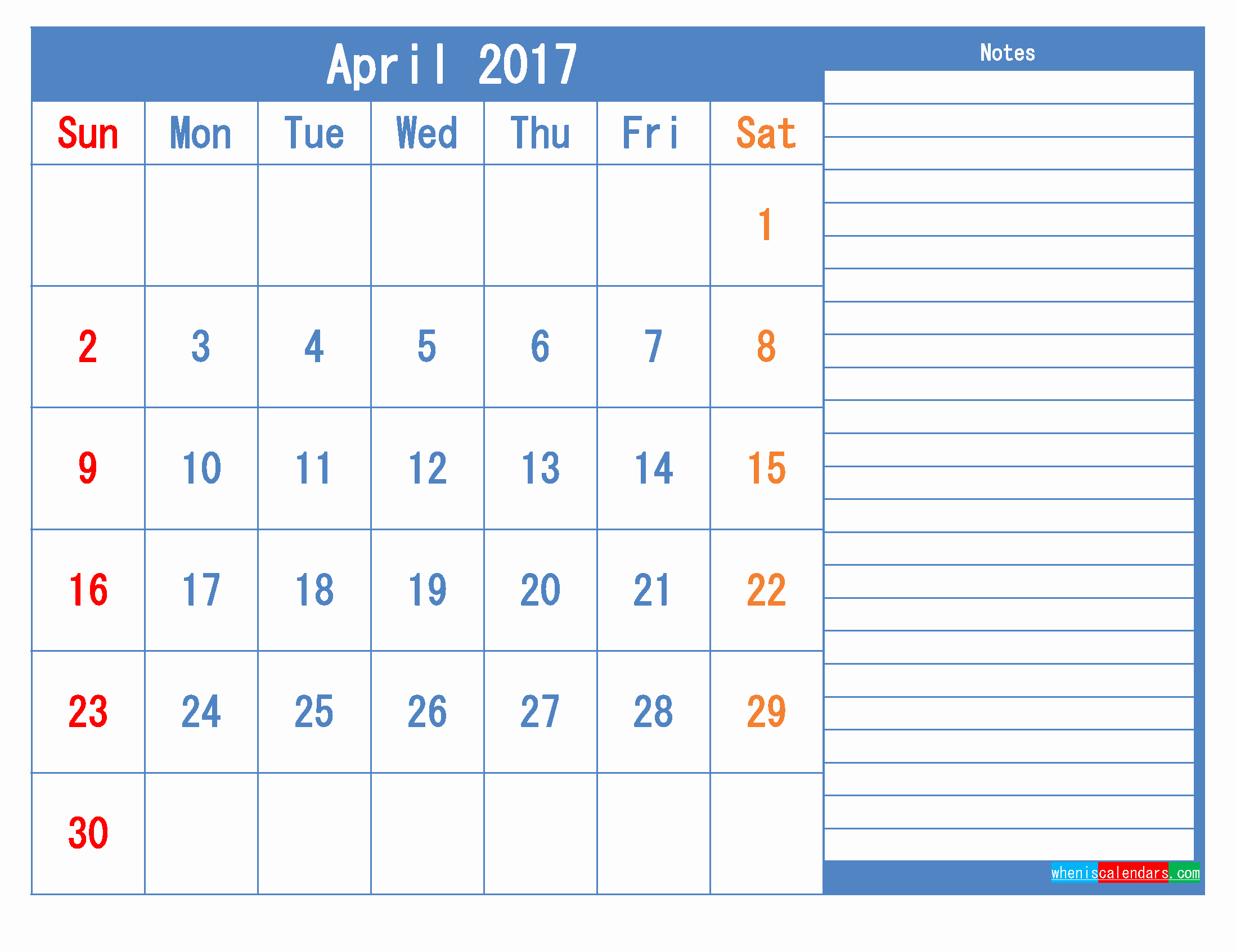 2017 Calendar Template with Notes Best Of Printable Calendar 2017 Monthly Calendar Template