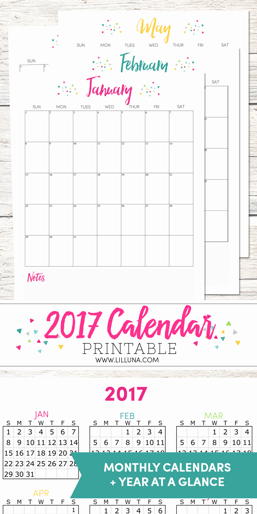 2017 Calendar Template with Notes New Free 2017 Calendar