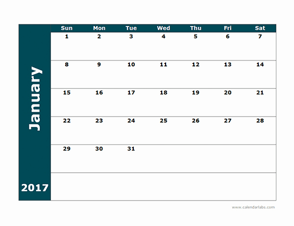 2017 Calendar Template Word Document Awesome 2017 Blank Calendar Template Free Printable Templates