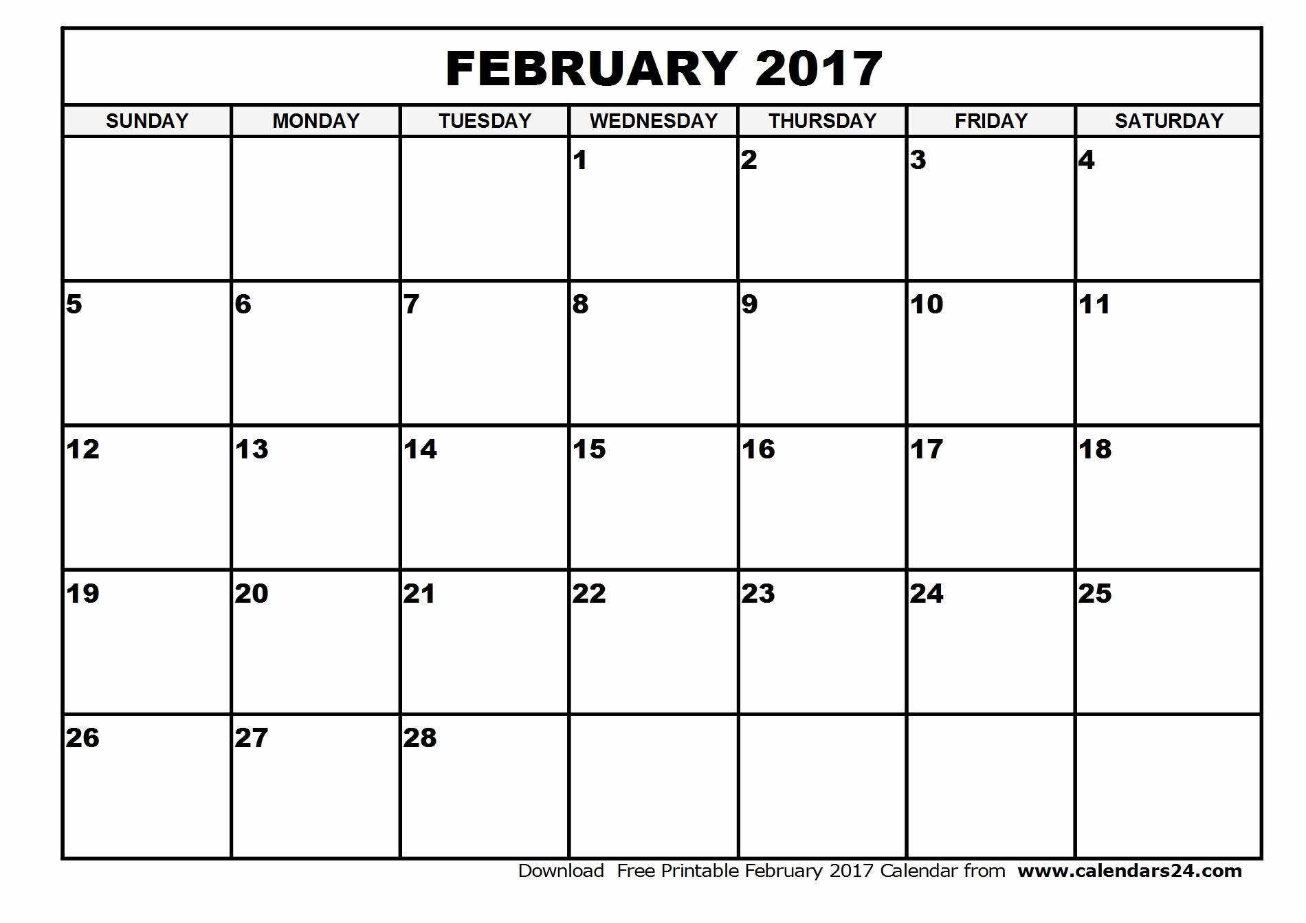 2017 Calendar Template Word Document Awesome February 2017 Calendar Word