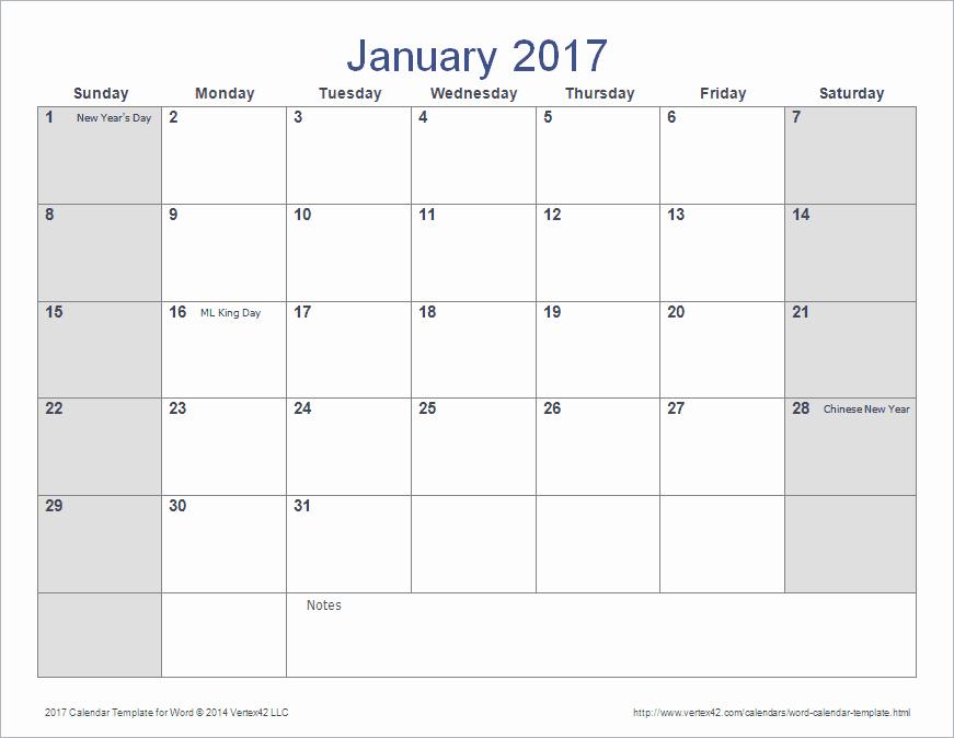 2017 Calendar Template Word Document Beautiful Word Calendar Template for 2016 2017 and Beyond