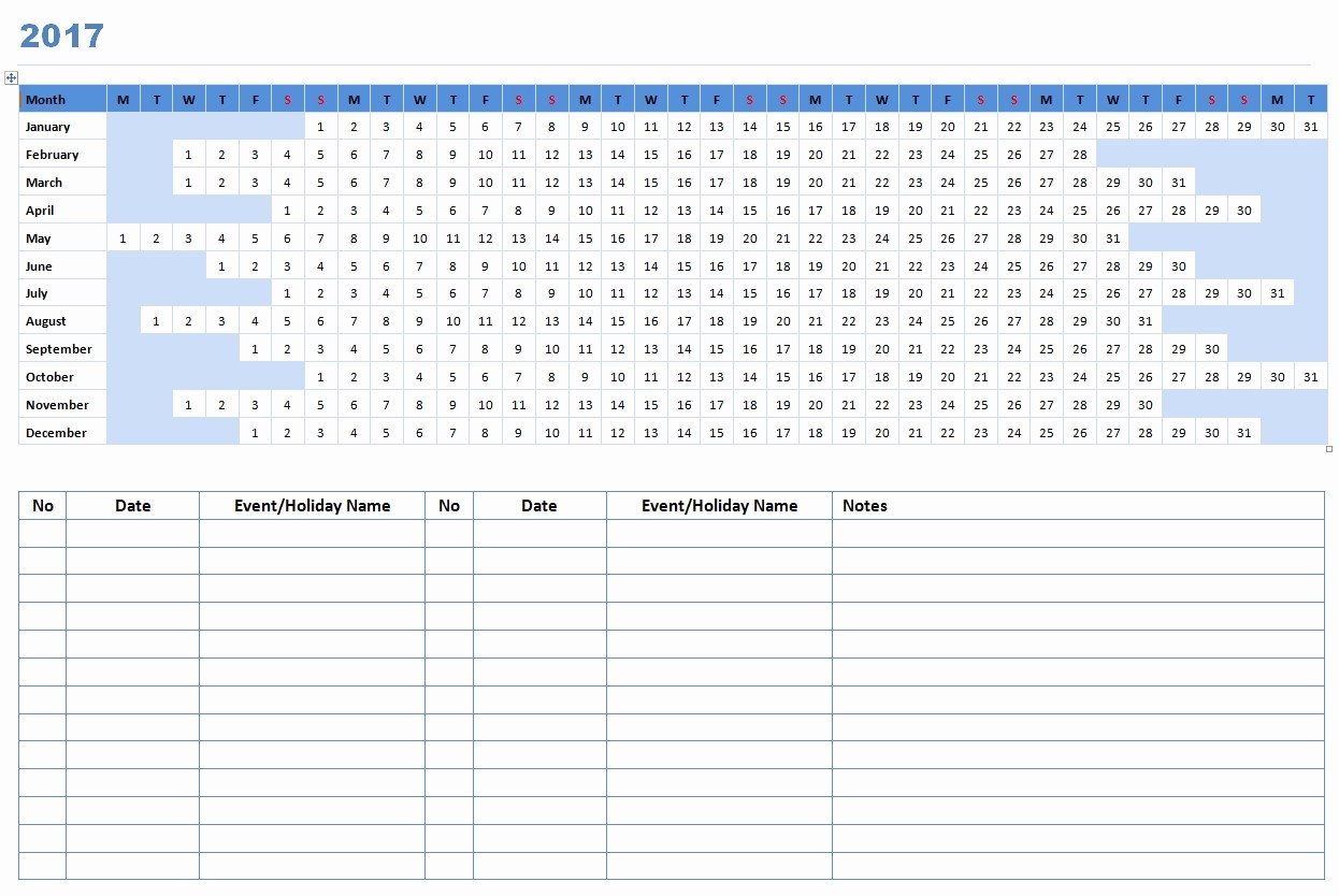 2017 Calendar Template Word Document Best Of Word Calendar Template 2017