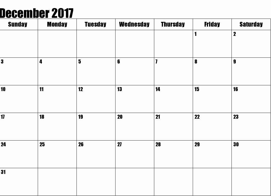 2017 Calendar Template Word Document Elegant December 2017 Printable Calendar Template Holidays Excel