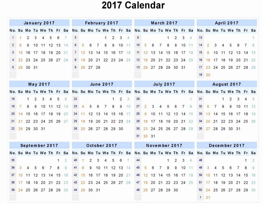 2017 Calendar Template Word Document Fresh 2017 Calendar Word
