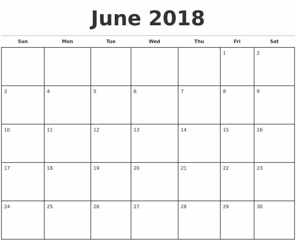 2017 Calendar Template Word Document Fresh June 2018 Calendar Word