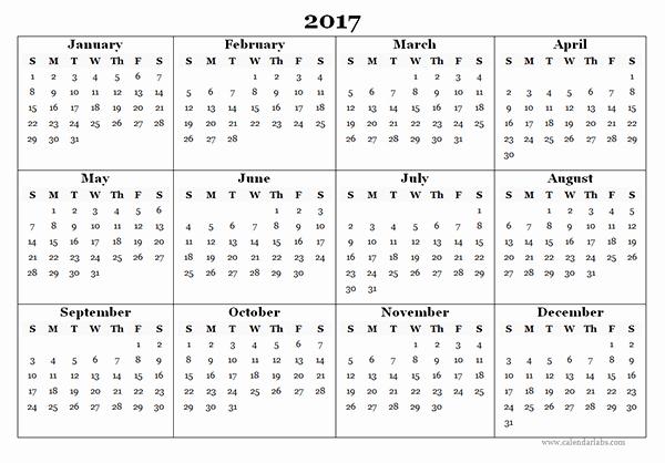 2017 Calendar Template Word Document Inspirational 2017 Blank Yearly Calendar Template Free Printable Templates
