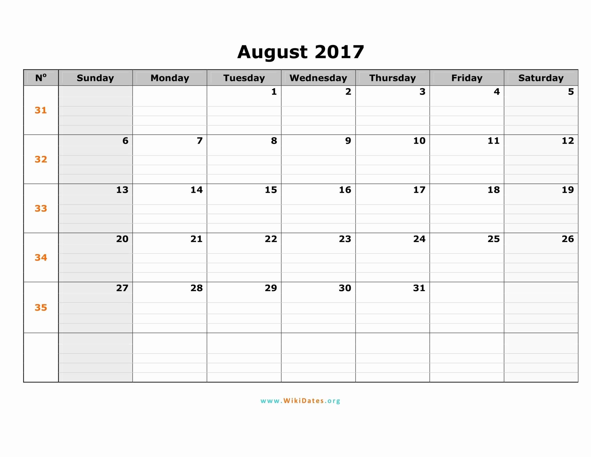 2017 Calendar Template Word Document Luxury August 2017 Calendar Word