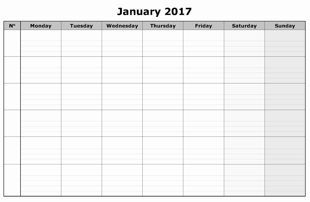 2017 Calendar Template Word Document New 2017 Calendar Word Doc Calendar Template 2018