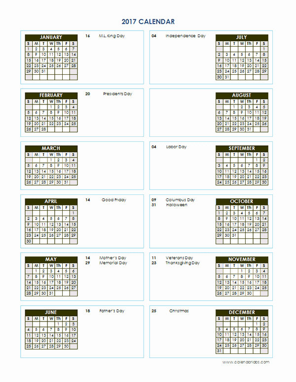 2017 Calendar Template Word Document New 2017 Yearly Calendar Template Vertical 02 Free Printable