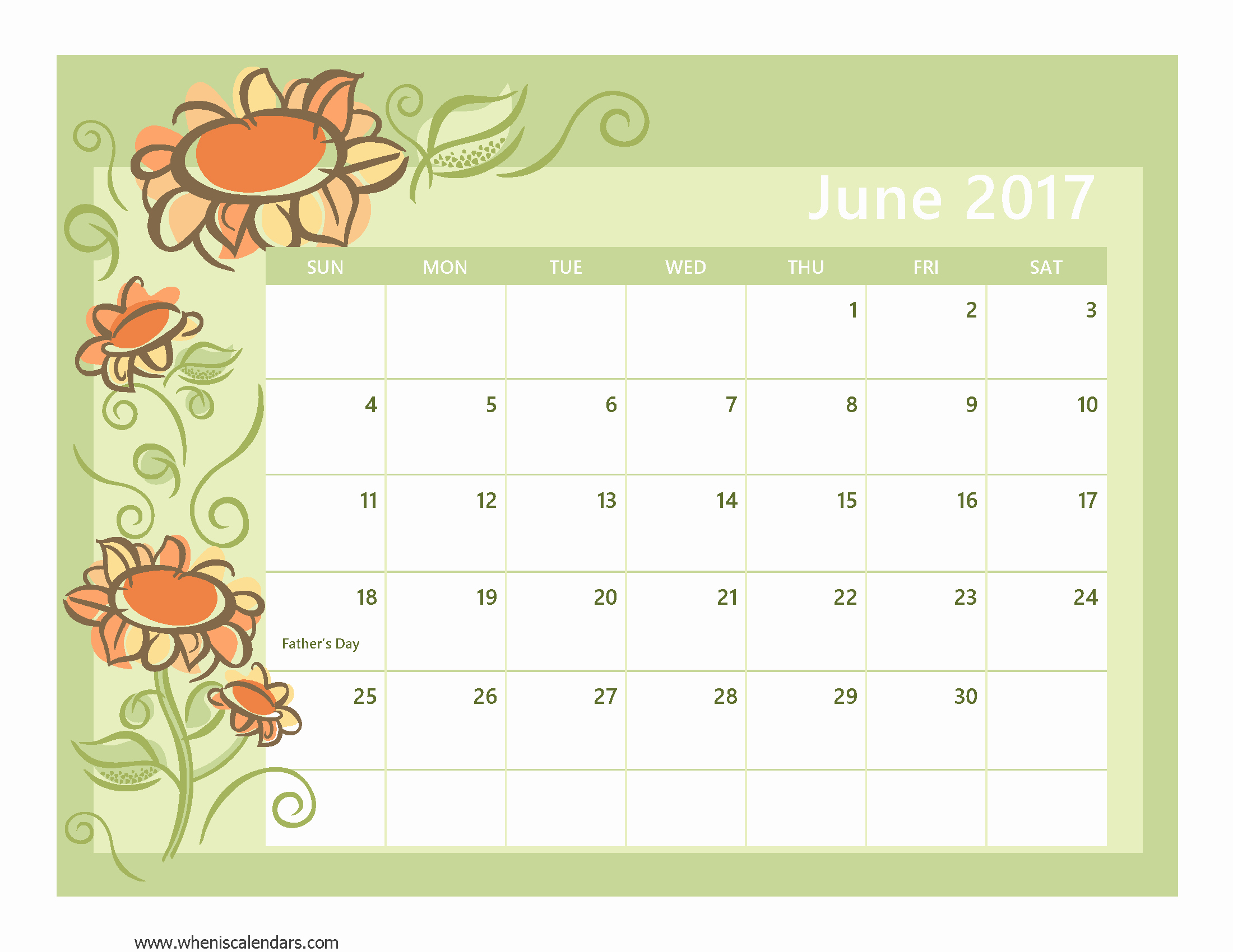2017 Calendar with Holidays Template Elegant June 2017 Calendar with Holidays