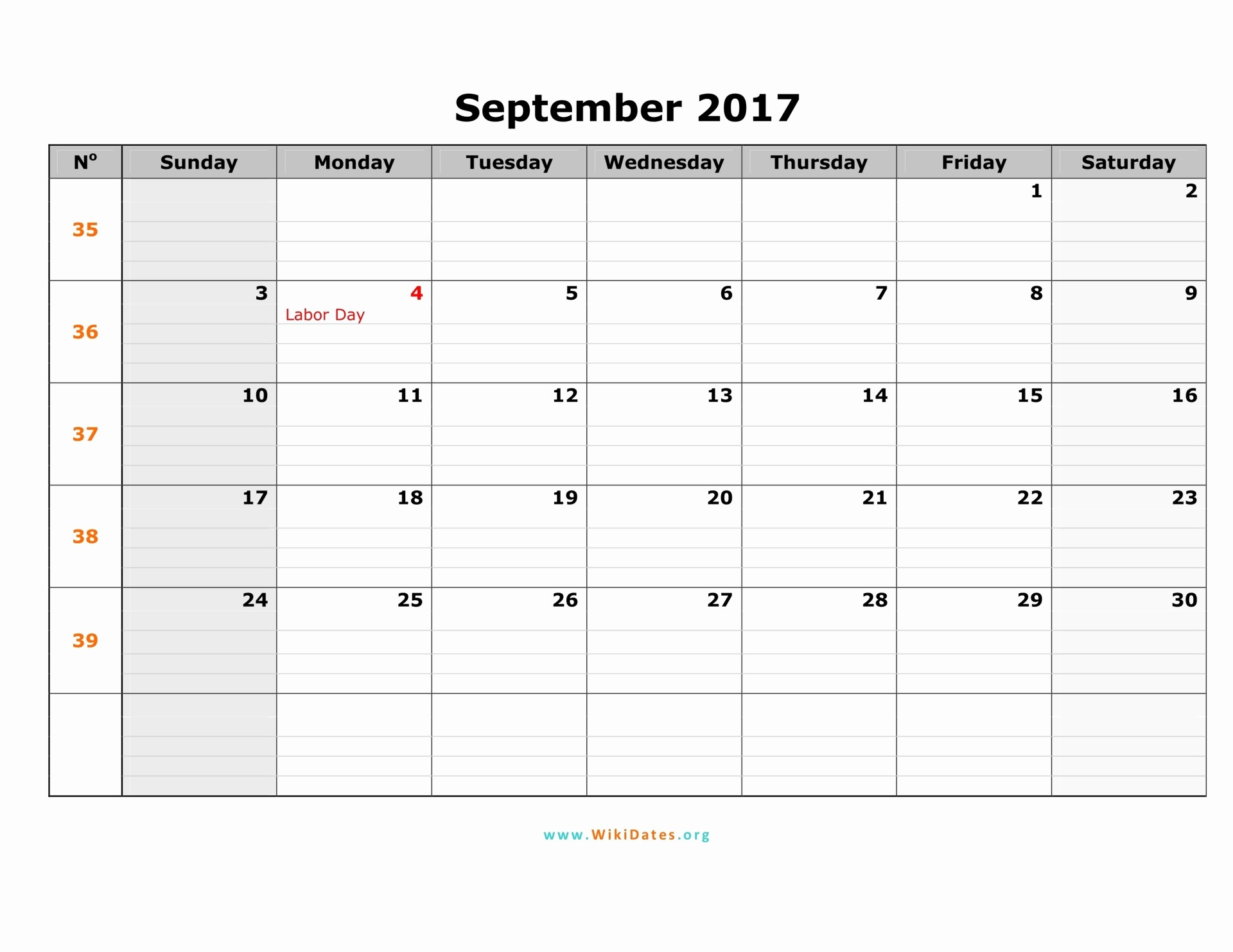 2017 Calendar with Holidays Template Unique September 2017 Calendar with Holidays Uk