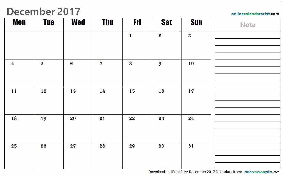 2017 Editable Calendar with Holidays Awesome Editable Calendar December 2017