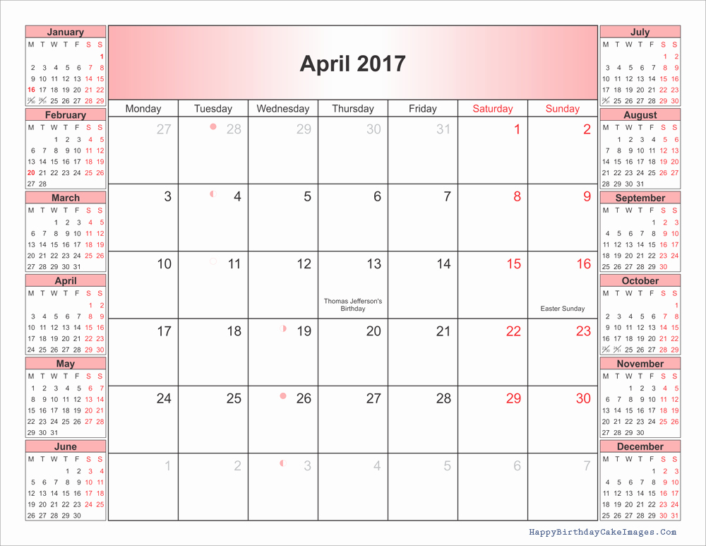 2017 Editable Calendar with Holidays Best Of April 2017 Calendar Printable Word Calendar Template 2018