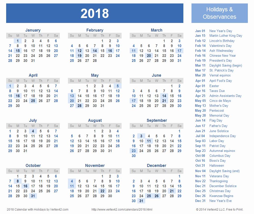 2017 Editable Calendar with Holidays Elegant 2018 Calendar Editable