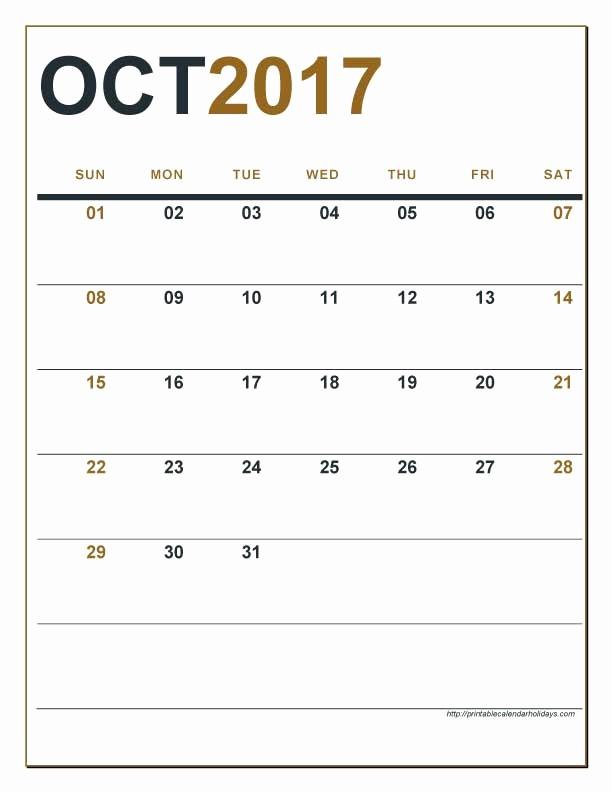 2017 Editable Calendar with Holidays Lovely Editable Calendar October 2017 Calendar Printable 2017