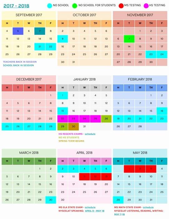 2017 Editable Calendar with Holidays Luxury 2017 2018 School Calendar