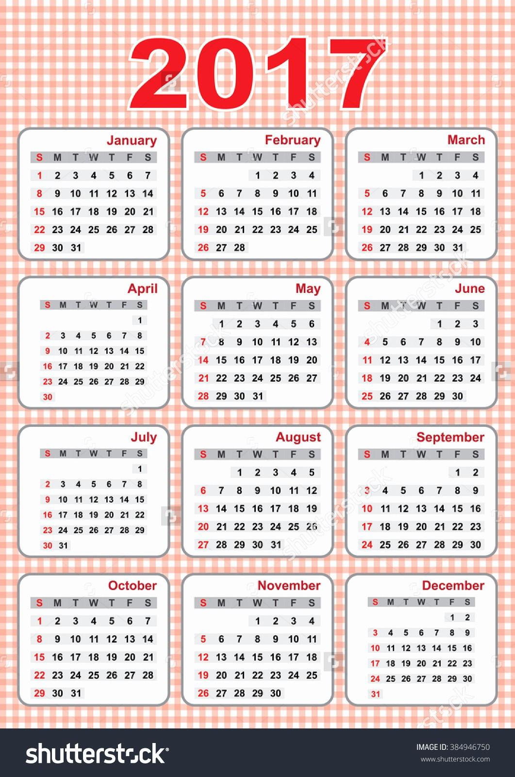 2017 Full Year Calendar Template Beautiful 2017 Calendar Full Image