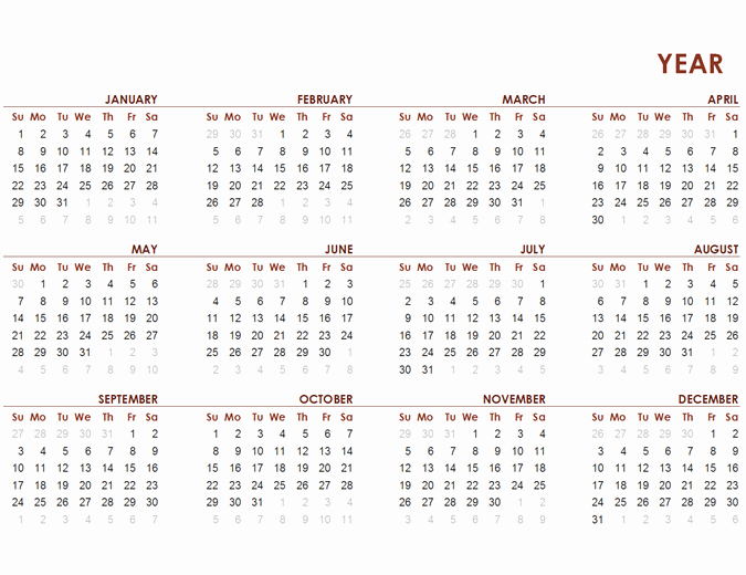 2017 Full Year Calendar Template Inspirational Weekly Appointment Calendar Fice Templates
