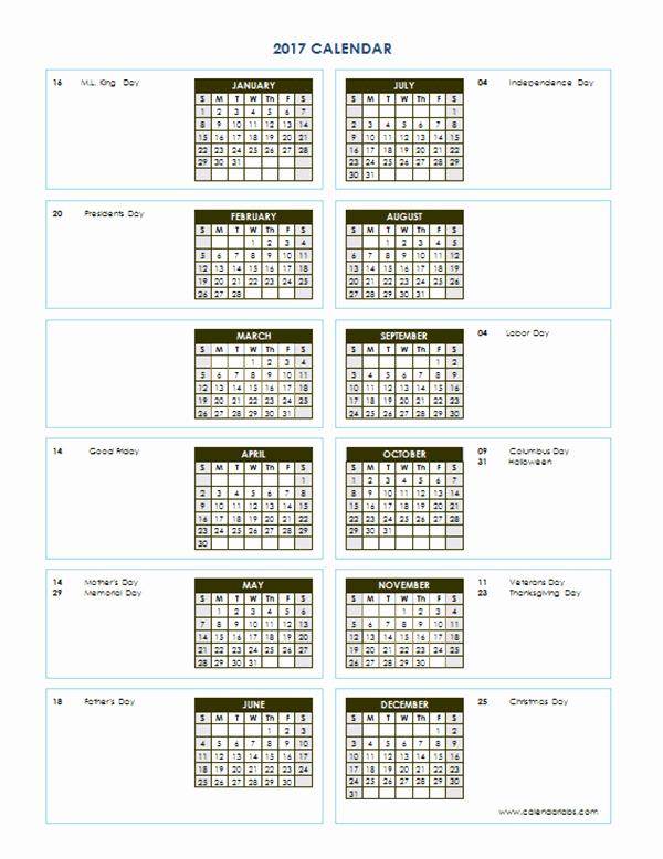 2017 Full Year Calendar Template Luxury 2017 Yearly Calendar Template Vertical 04 Free Printable