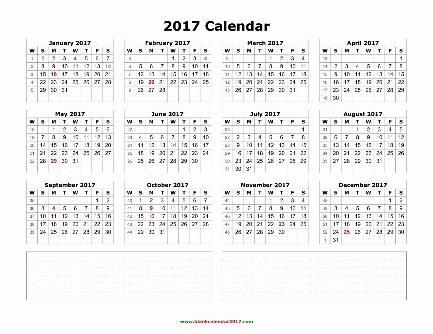 2017 Full Year Printable Calendar Awesome 2017 Calendar Pdf