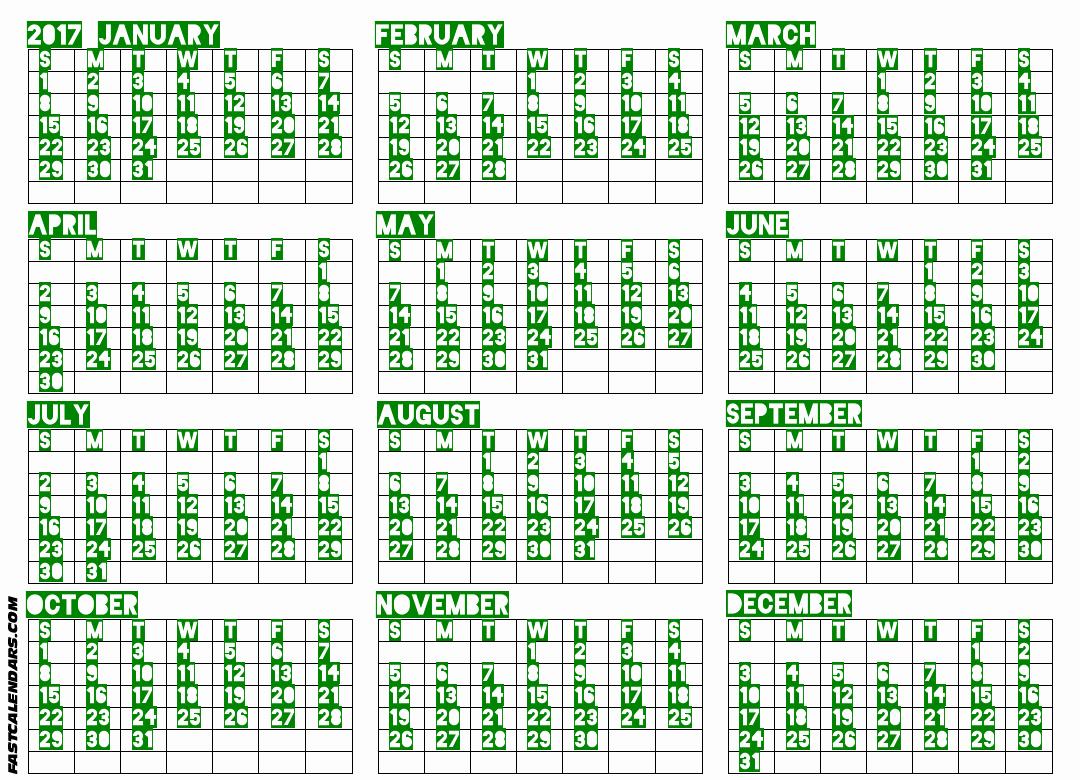 2017 Full Year Printable Calendar Awesome Blank 2017 Full Year Calendar