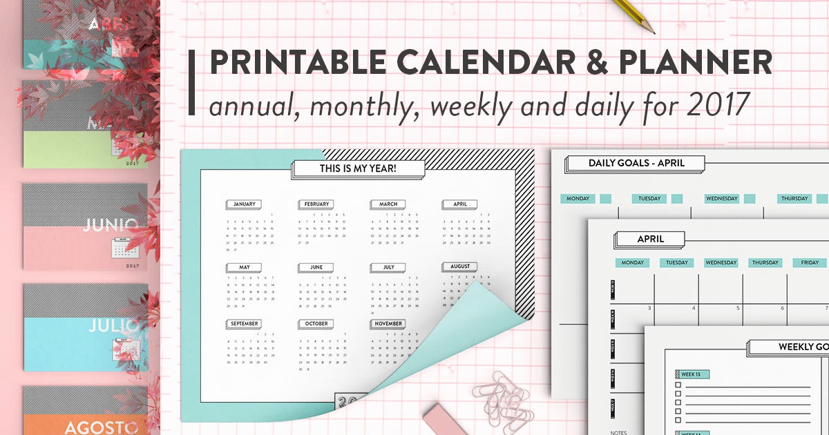 2017 Full Year Printable Calendar Best Of Printable Calendar & Planner