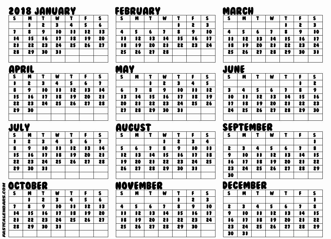 2017 Full Year Printable Calendar Fresh Full Year Calendars