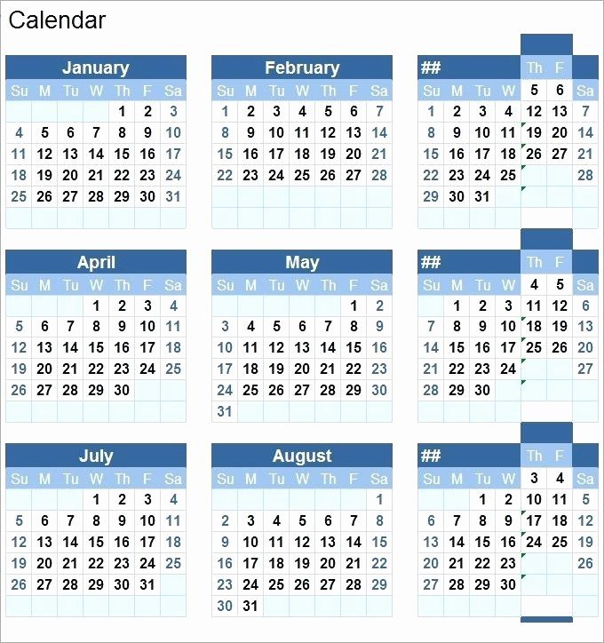 2017 Full Year Printable Calendar Luxury 2017 Full Year Calendar Template Excel Free Printable