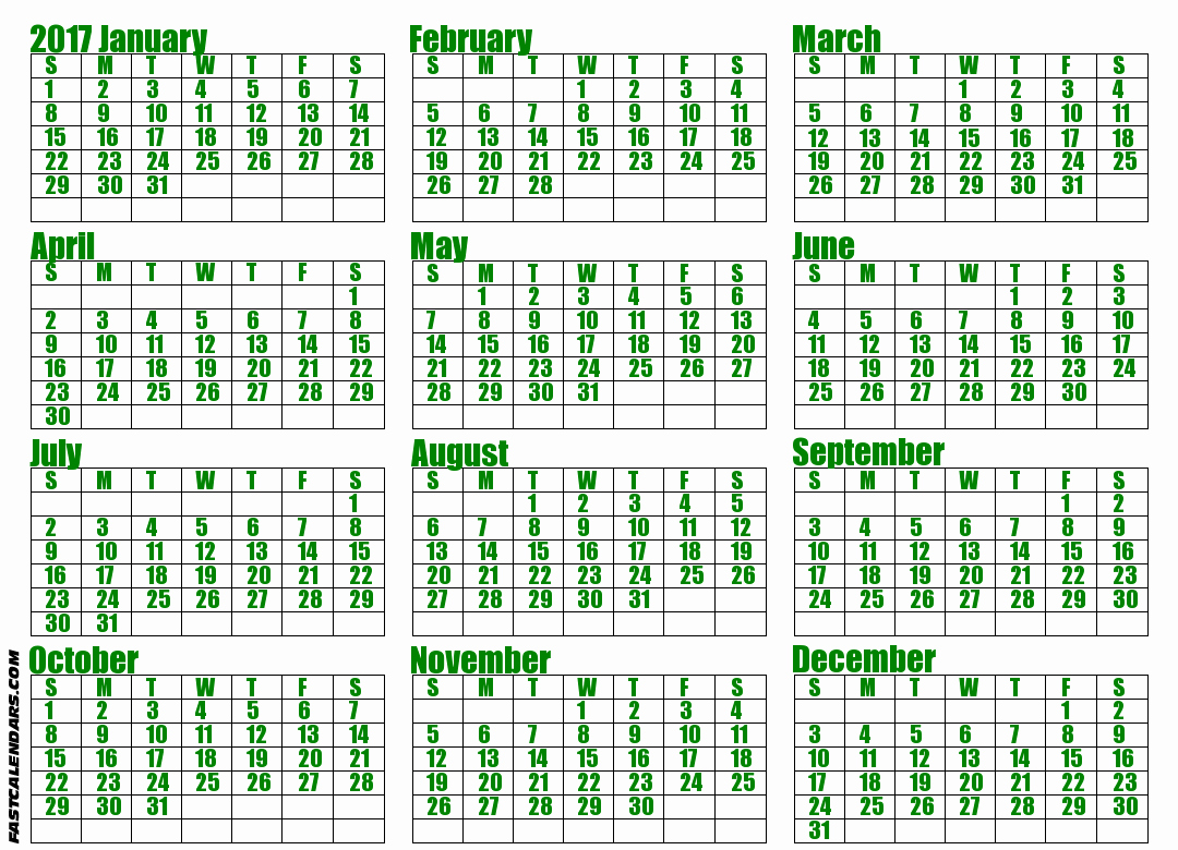 2017 Full Year Printable Calendar Luxury Blank 2017 Full Year Calendar
