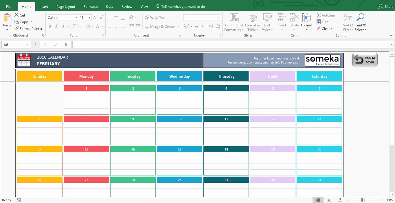 2017 Quarterly Calendar Template Excel Awesome Excel Calendar Template