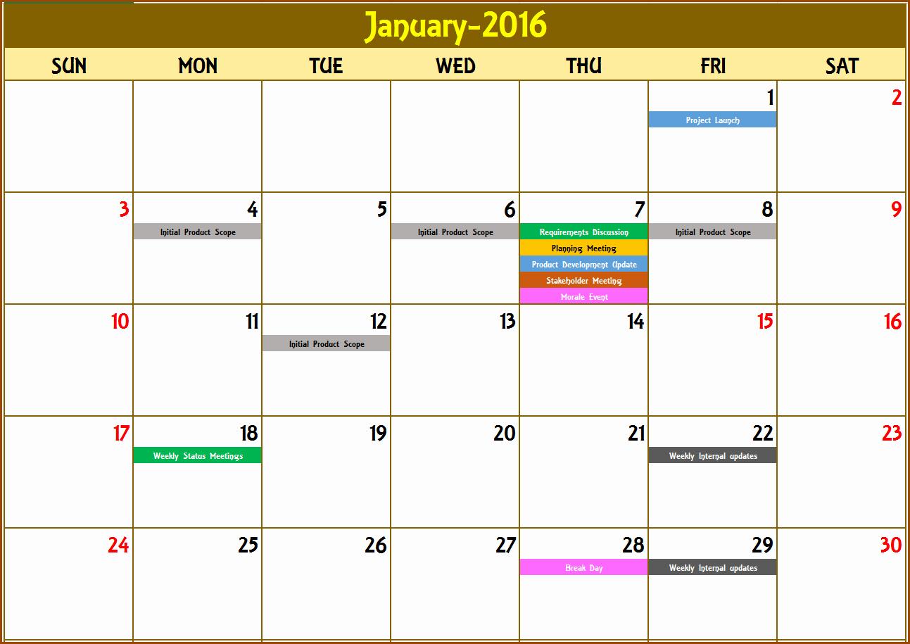 2017 Quarterly Calendar Template Excel Beautiful event Calendar Excel Template
