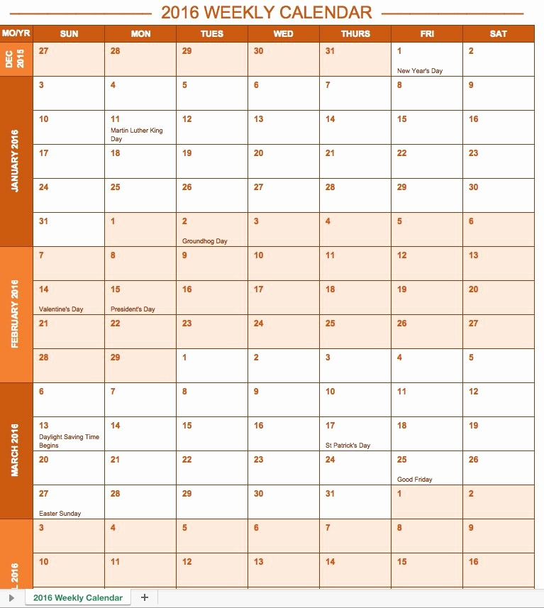 2017 Quarterly Calendar Template Excel Beautiful Free Excel Calendar Templates