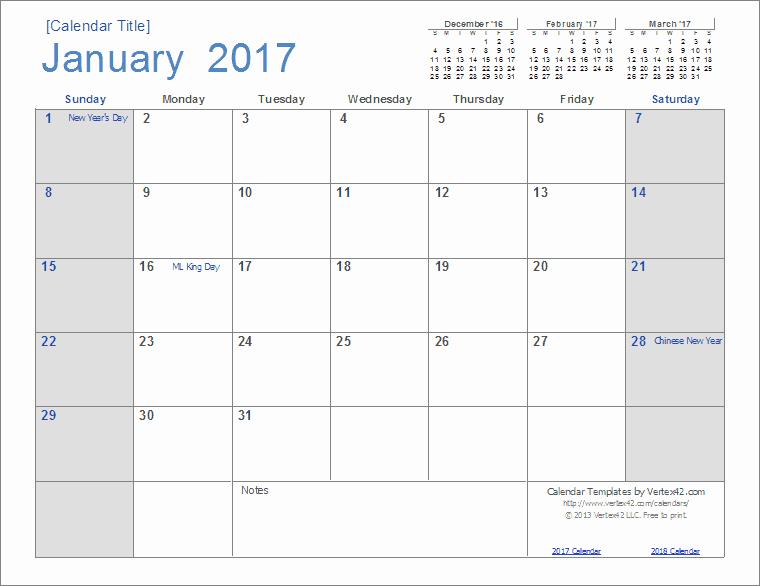 2017 Quarterly Calendar Template Excel Best Of 2017 Calendar Templates and