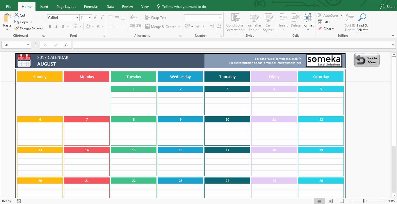 2017 Quarterly Calendar Template Excel Inspirational Excel Calendar Template Free Printable Monthly Calendar