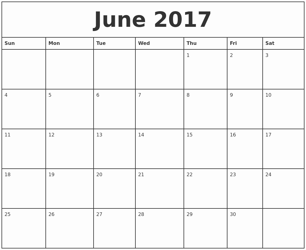 2017 Weekly Calendar with Holidays Awesome Blank Monthly Calendar 2017 Printable