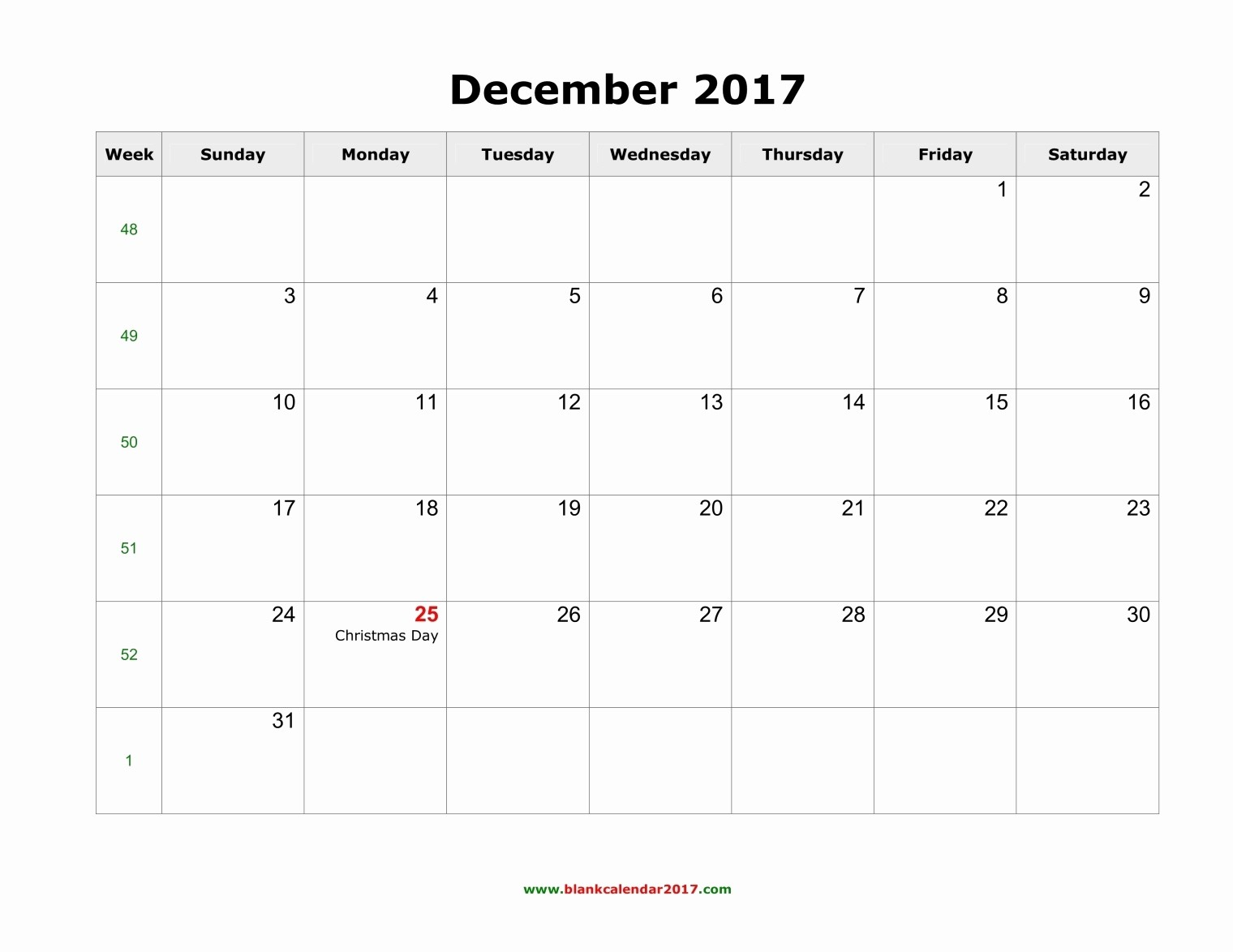 2017 Weekly Calendar with Holidays Inspirational December 2017 Calendar with Holidays