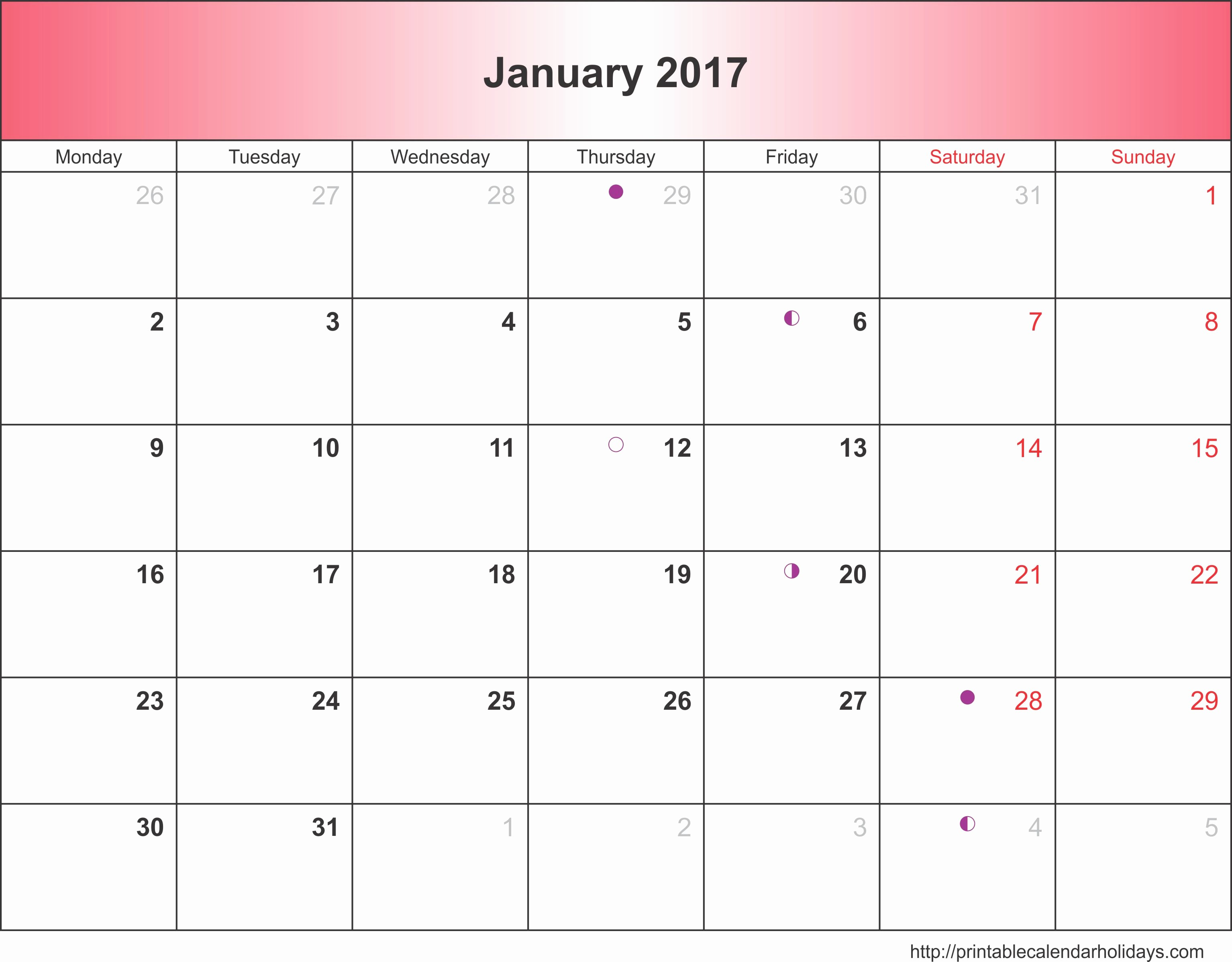 2017 Weekly Calendar with Holidays Luxury Monthly Calendar 2017 Archives Free Printable Calendar