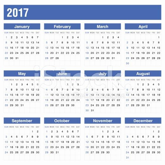 2017 Year Calendar Printable Free Beautiful Printable Calendar 2017