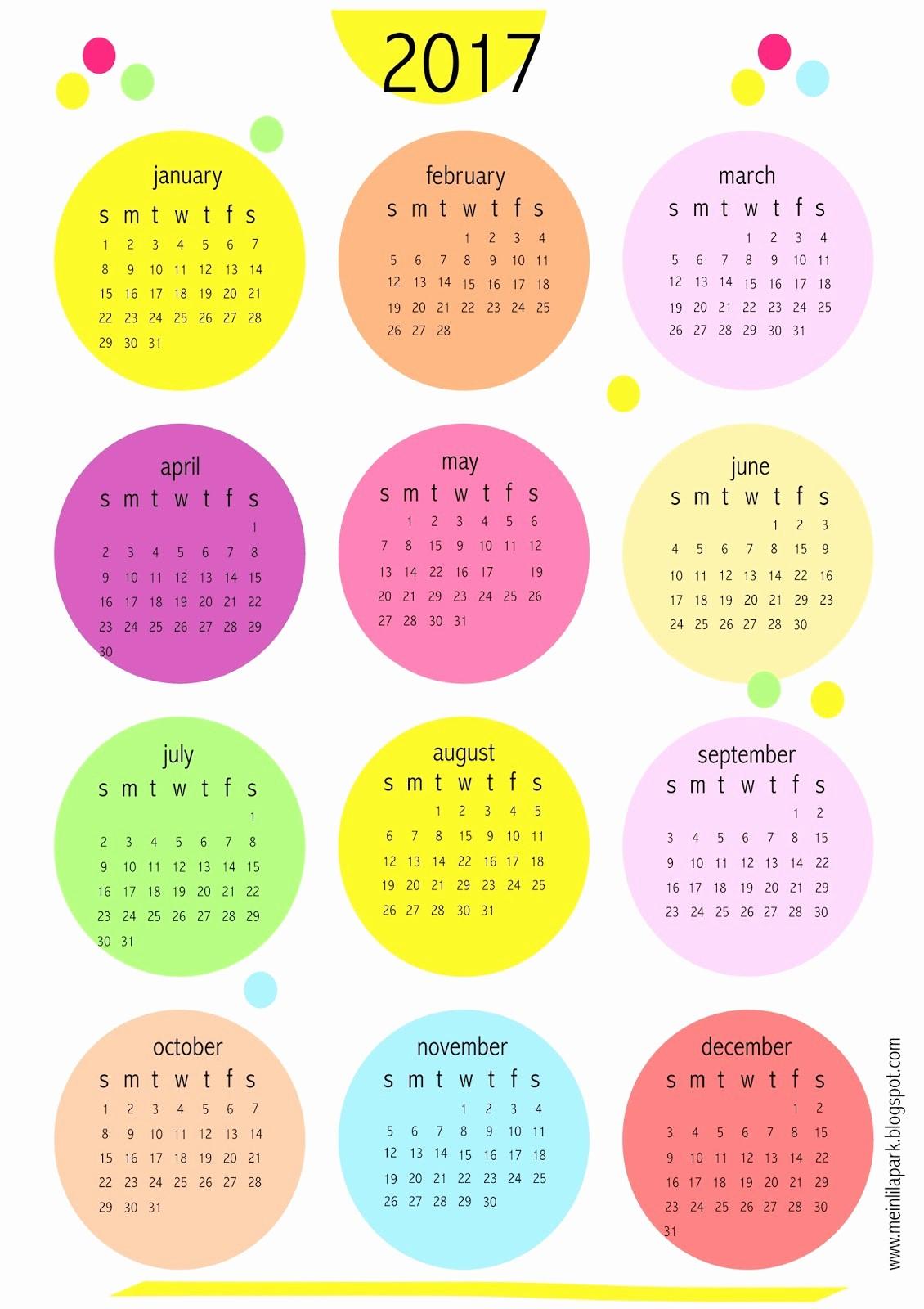 2017 Year Calendar Printable Free Elegant Free Printable 2017 Bubbles Calendar Freebie