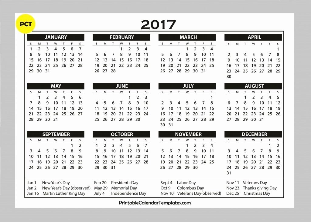 2017 Year Calendar Printable Free Luxury Free Calendars 2017