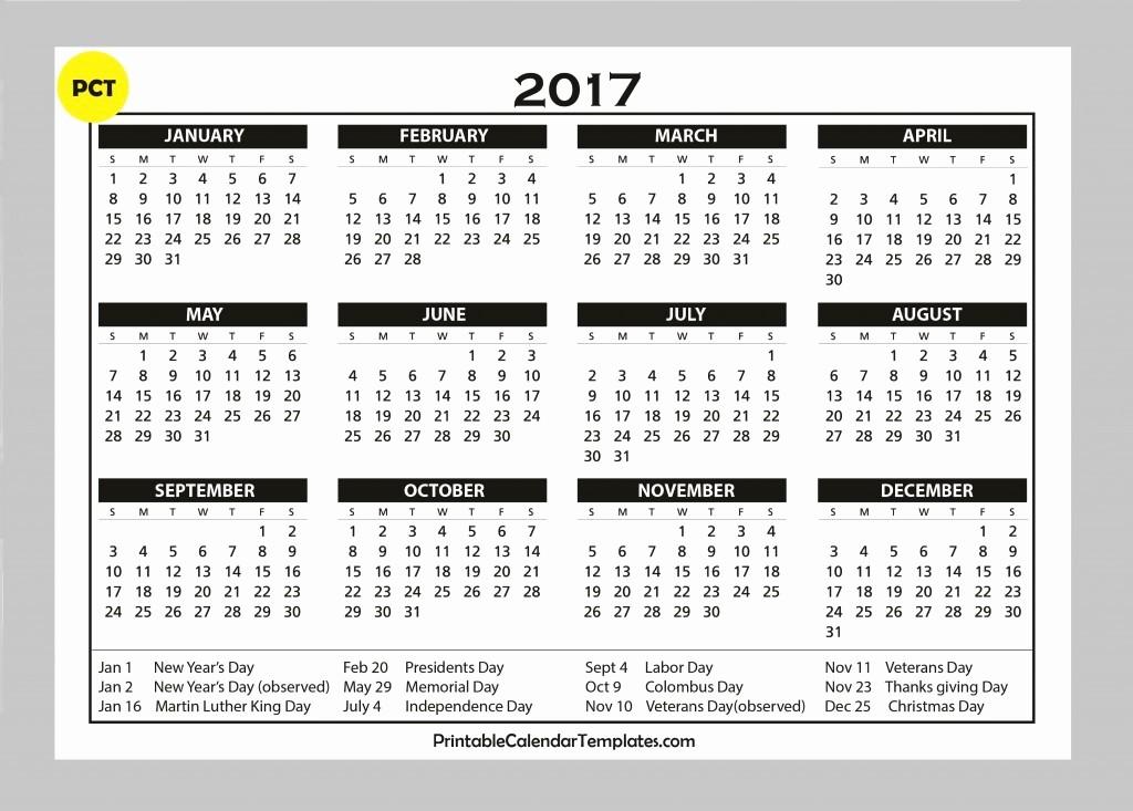 2017 Year Calendar Printable Free Luxury Free Calendars 2017