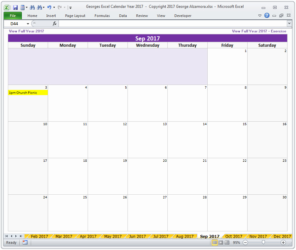2017 Yearly Calendar Excel Template Awesome Excel Calendar Year 2017 Spreadsheet – Buyexceltemplates