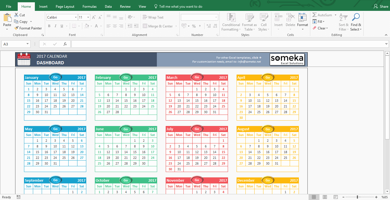 2017 Yearly Calendar Excel Template Fresh Excel Calendar Templates Download Free Printable Excel