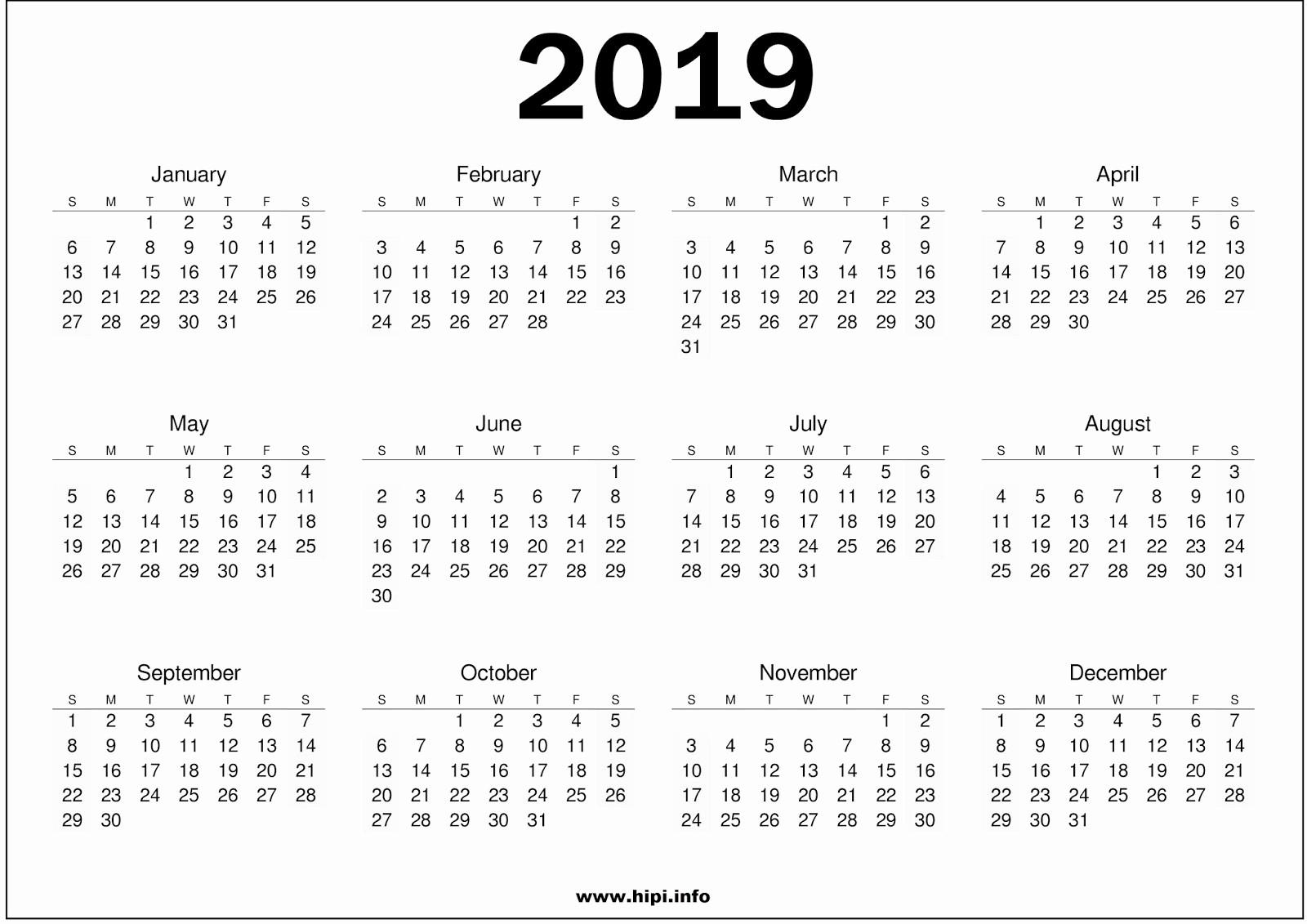 2018 and 2019 Printable Calendar Fresh 2019 Calendar Printable Free007 Addicted2adventure