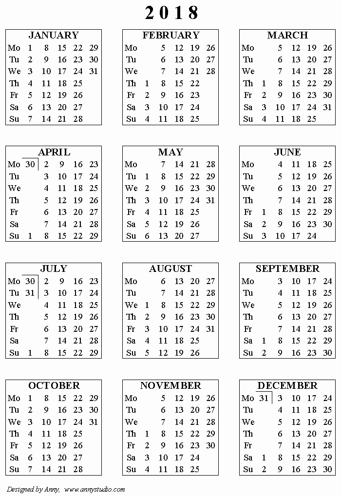 2018 and 2019 Printable Calendar Luxury Free Printable Calendars and Planners 2019 2020 2021