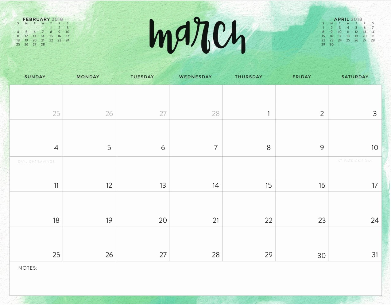 2018 and 2019 Printable Calendar Luxury March 2018 Printable Calendar