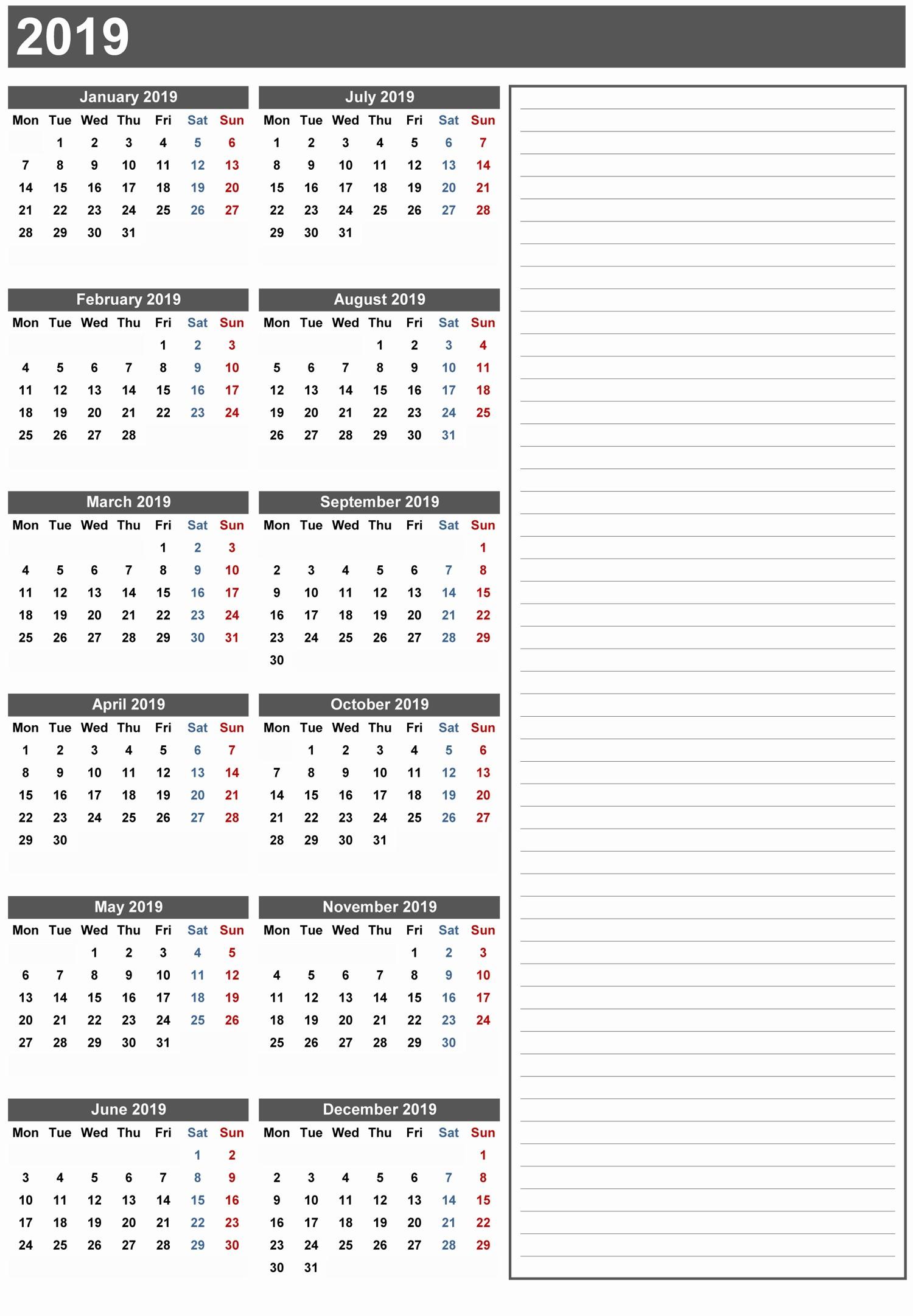 2018 and 2019 Printable Calendar Unique 10 Best 2019 Calendar Designs Ideas