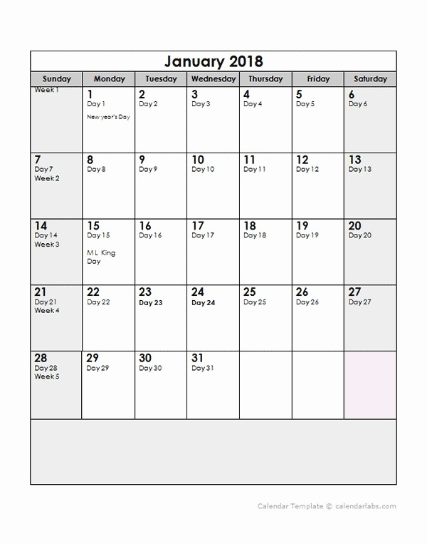 2018 Calendar with Julian Dates Awesome 2018 Julian Date Calendar Printable Free Calendar Template