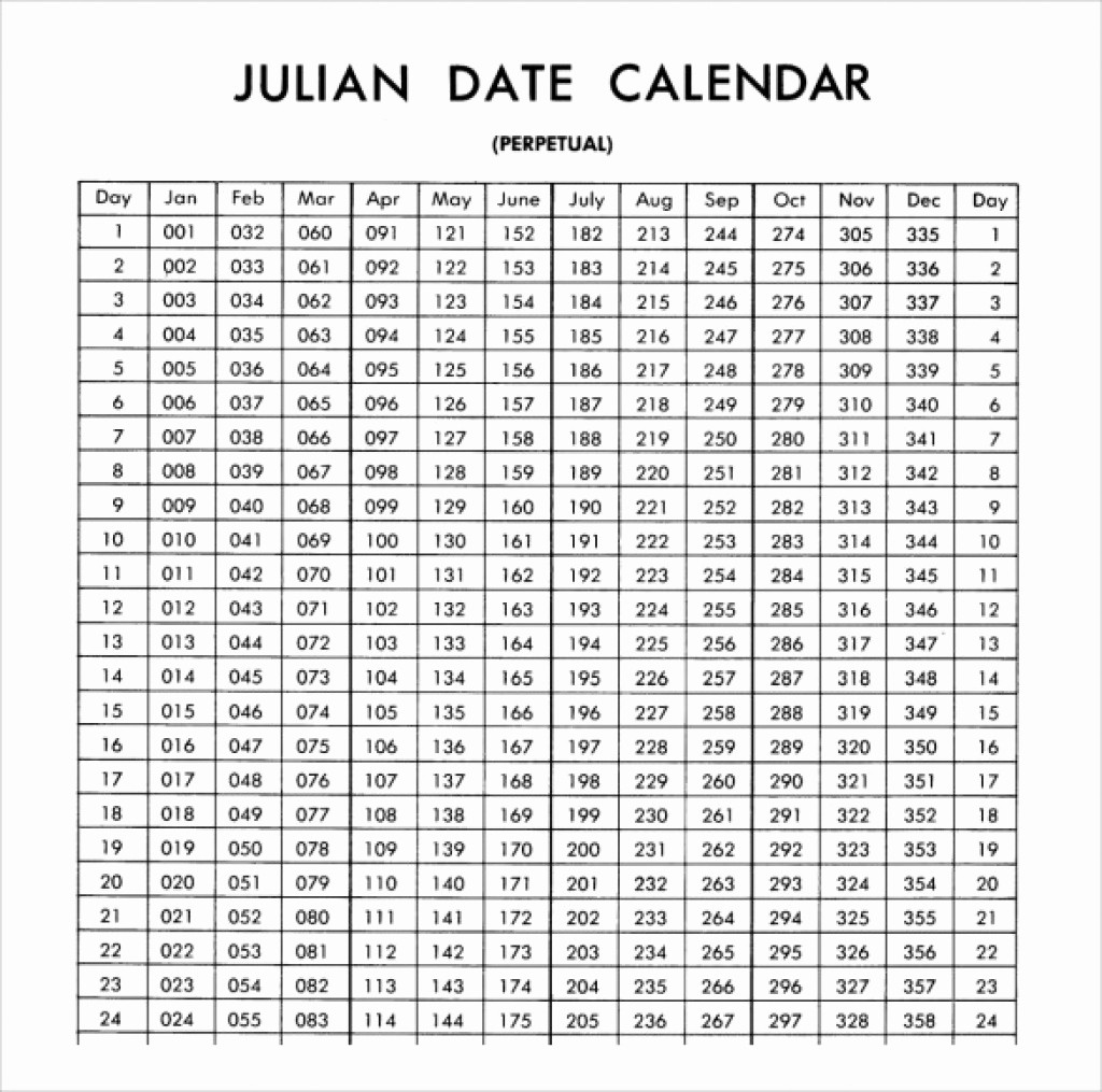 2018 Calendar with Julian Dates Lovely Full Size Printable Julian Date Calendar 2018 – Template